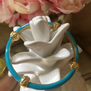 Blue and gold lilly pulitzer bracelet